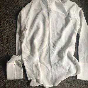 Club Monaco Tops - Cream silk button front blouse from Club Monaco